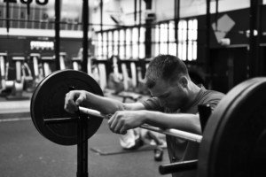 young man resting at the gym