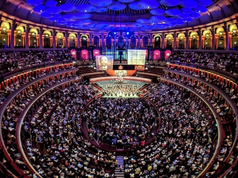 Full auditorium, BBC proms at Royal Albert Hall
