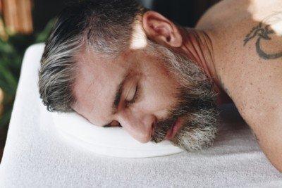 Customer enjoying a gay massage in the UK